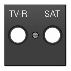 Tapa toma TV+ R / sat negro...